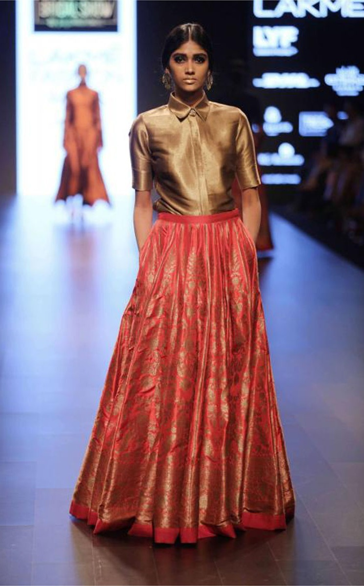 Image result for lehengas with pockets for bridal trends