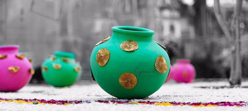 40 DIY Decor Ideas For Your Mehendi And We Show You How ShaadiSaga Impressive Designs For Pots Decoration