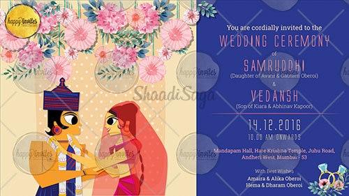 Animated Wedding Invitation Video Wedding Invitations In Mumbai