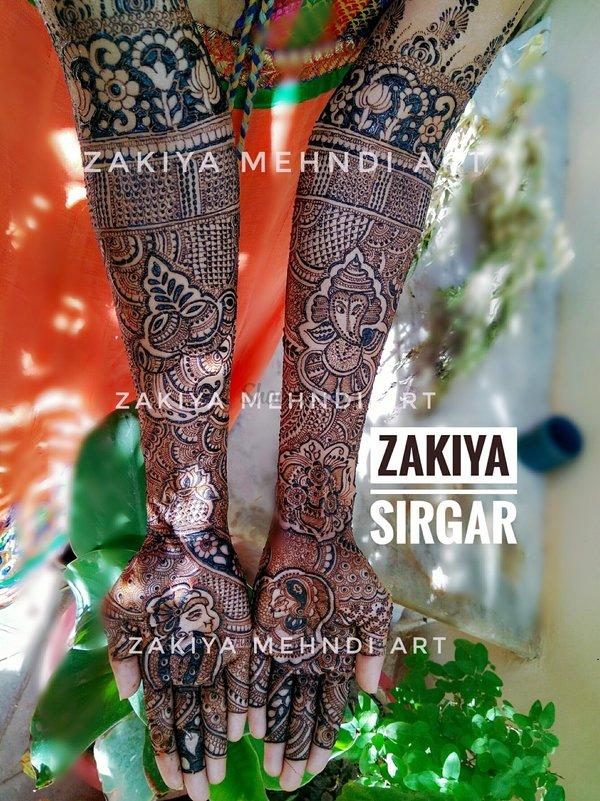 Bridal Mehndi Artist In Surat : Zakiya professional bridal mehndi artist artists