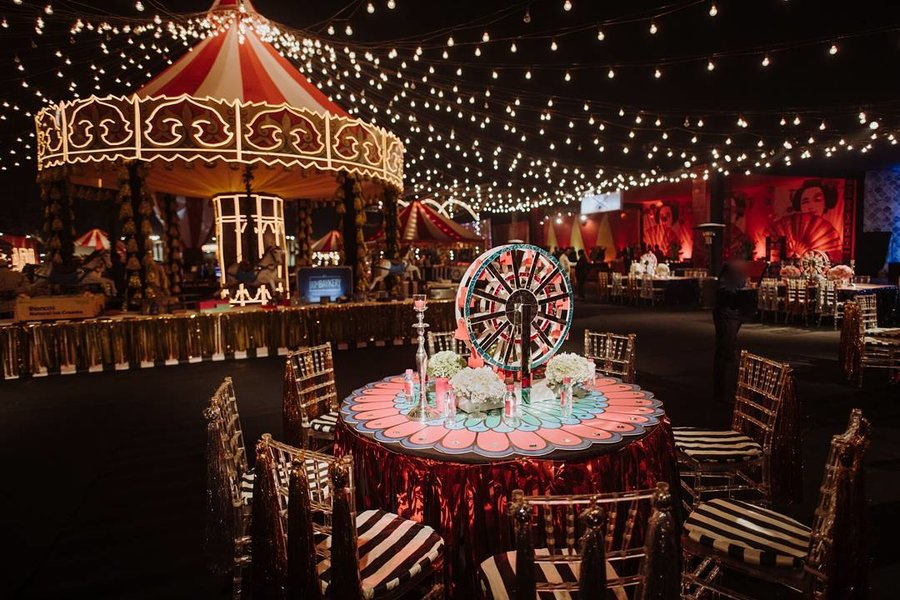 carnival themes are the next big trend in weddings we can bet you