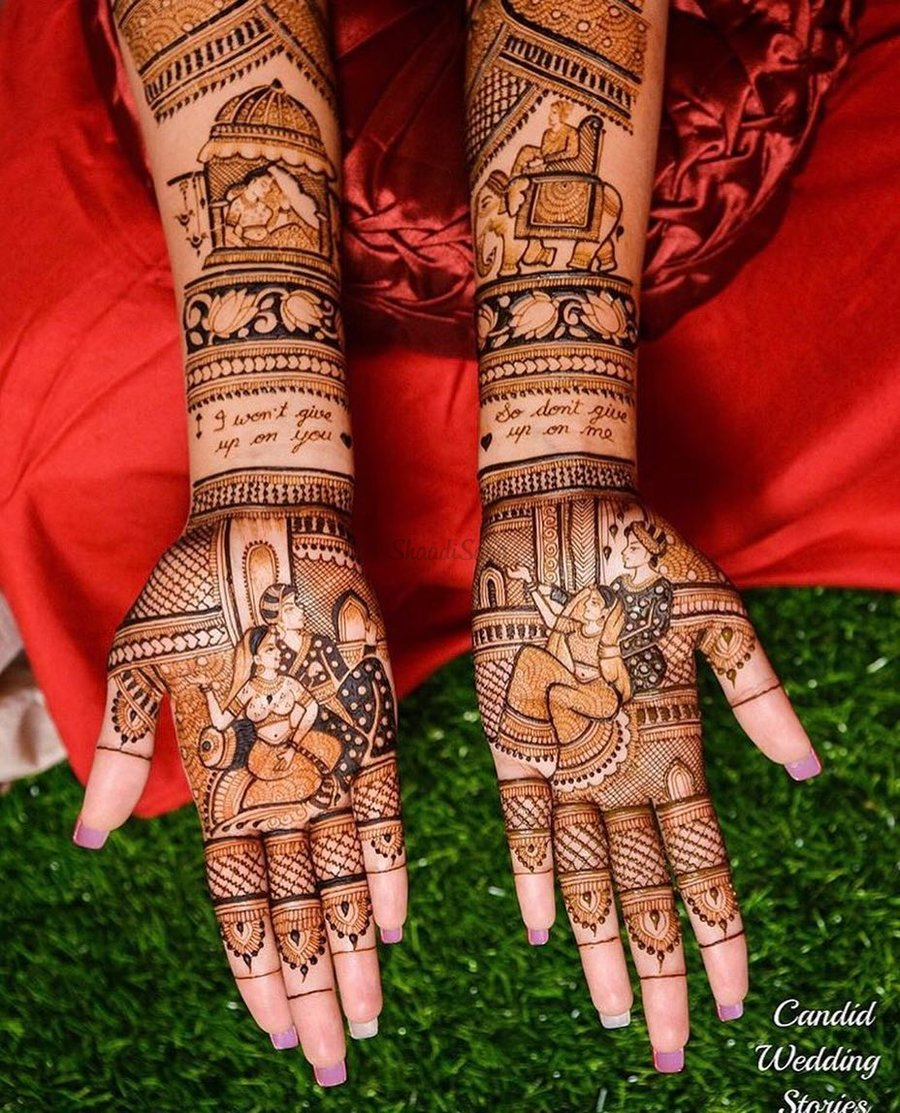 30 Newest Bridal Mehndi Designs For Hands Feet Shaadisaga
