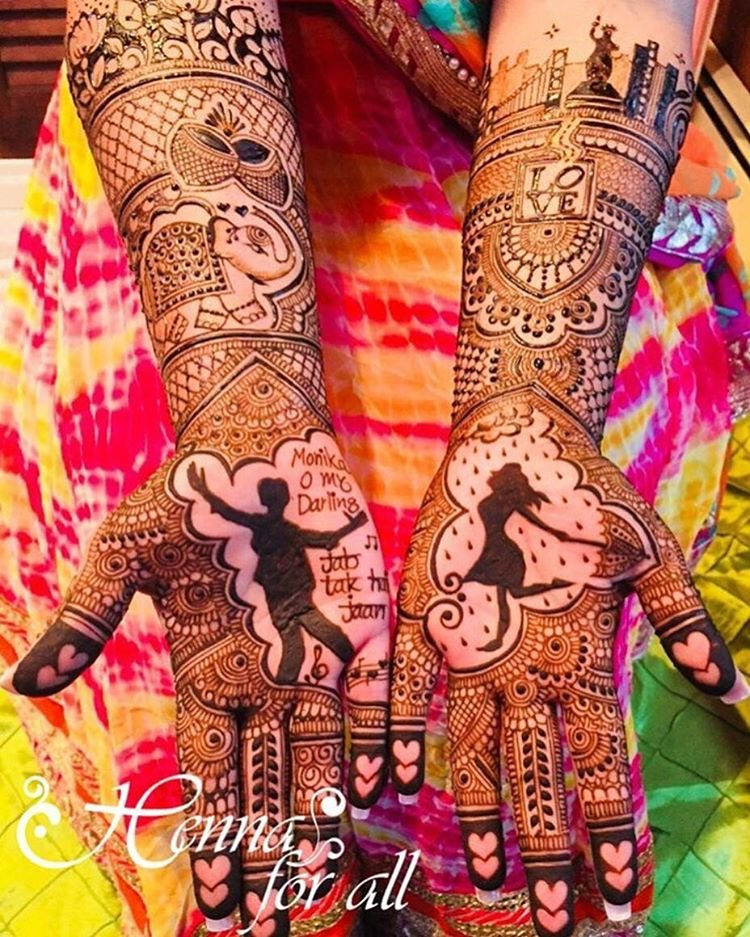 30 Newest Bridal Mehndi Designs For Hands Feet Shaadisaga
