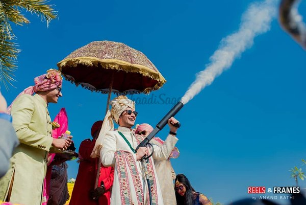 Co2 blasters for the baraat reels and frames
