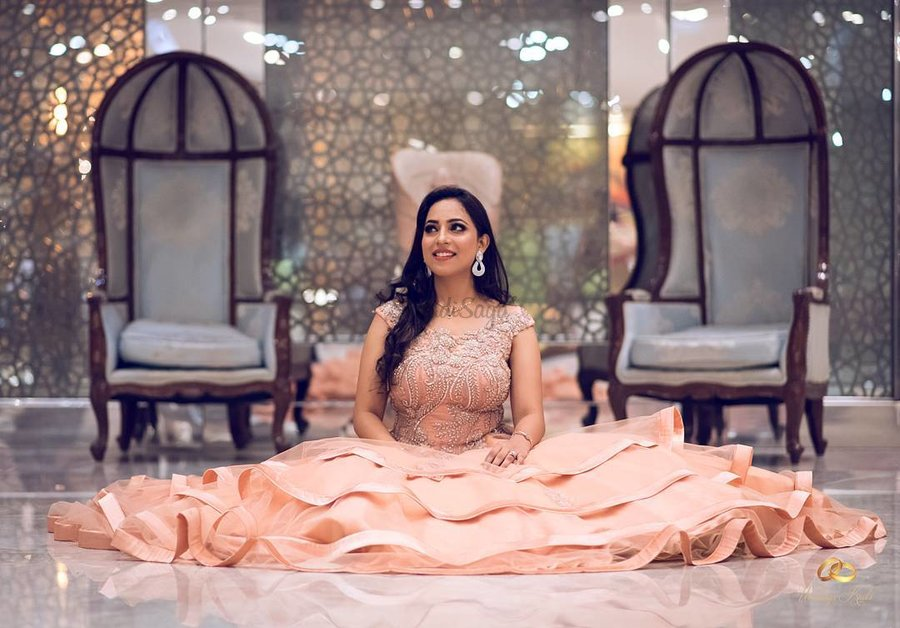 6103b8e83c1 Stunning Gowns Real Brides wore instead of Lehenga for Reception ...