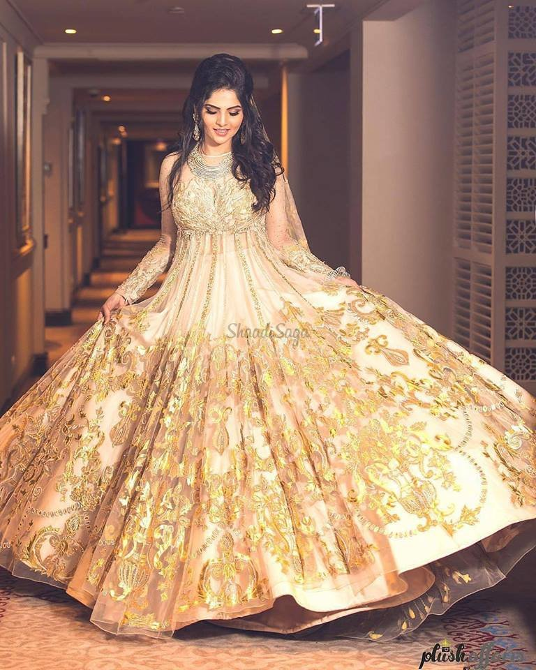 Stunning Gowns Real Brides wore instead of Lehenga for Reception ...