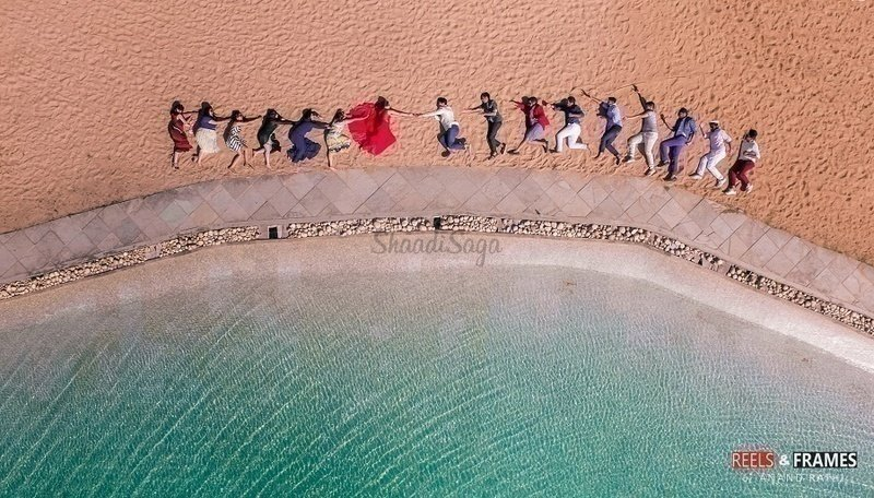 Surreal Drone Shots are taking Pre-Wedding Photoshoot to New