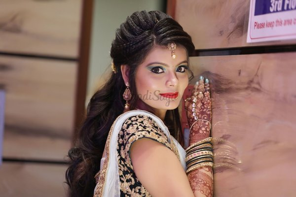 Mehndi Makeup And Hairstyle : Riddhi s professional makeover and mahendi world makeup artists