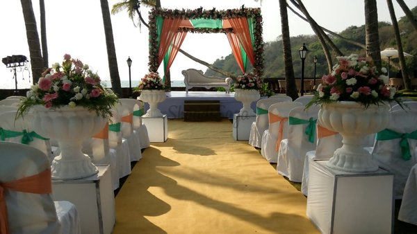 Wedding aisle goldentree wedding planner goa