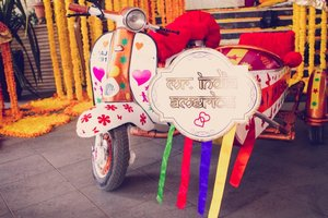 Jai veeru style bride groom entry