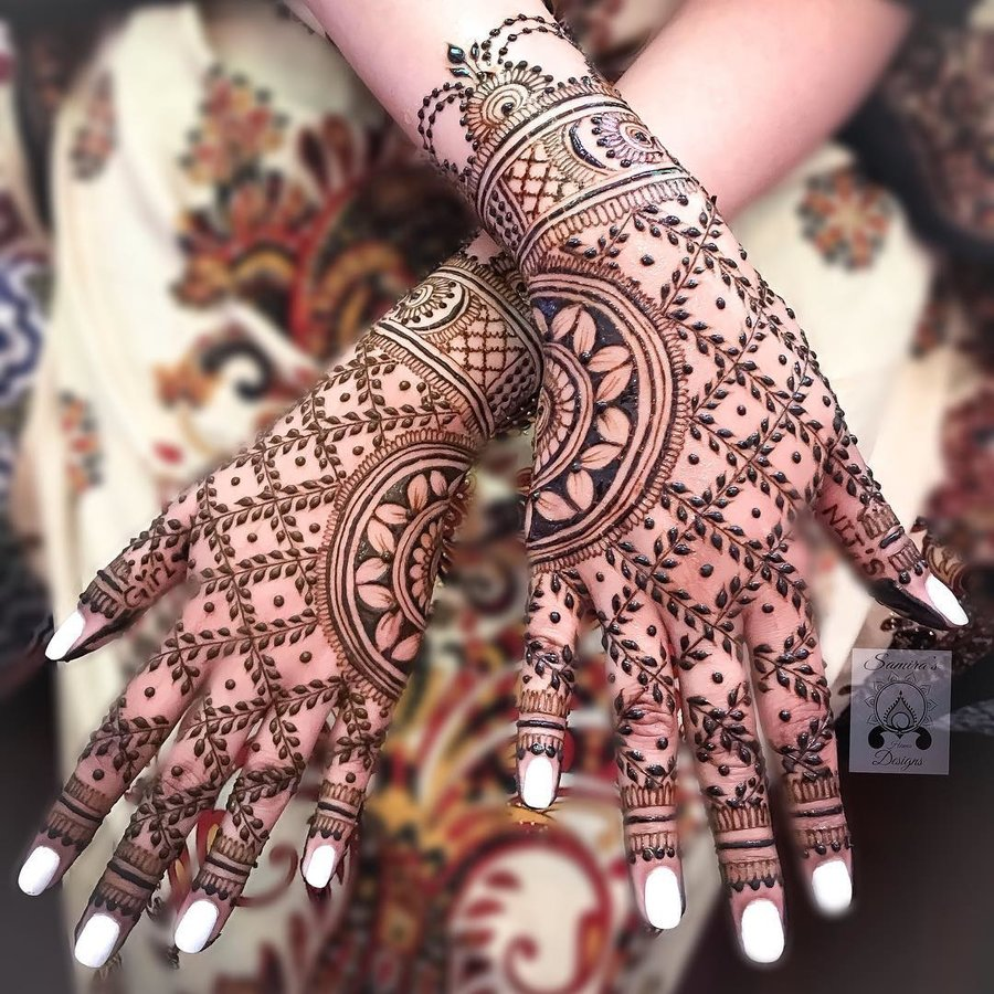 30 Flaunt,worthy Back Hand Mehendi Designs Indian Brides
