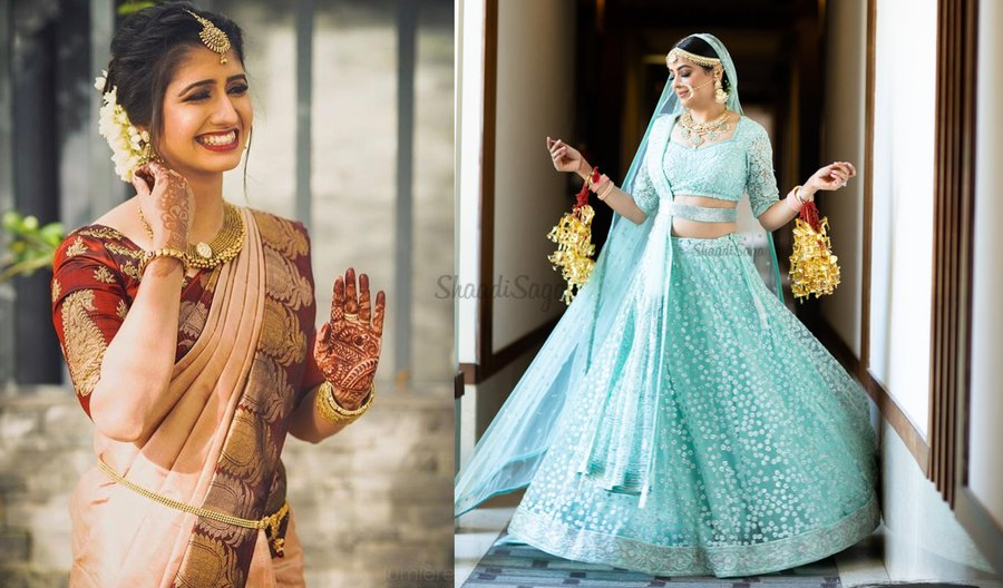 "6b8e9ca0e Real Brides in Lightweight Bridal Outfits prove ""Less is More ..."