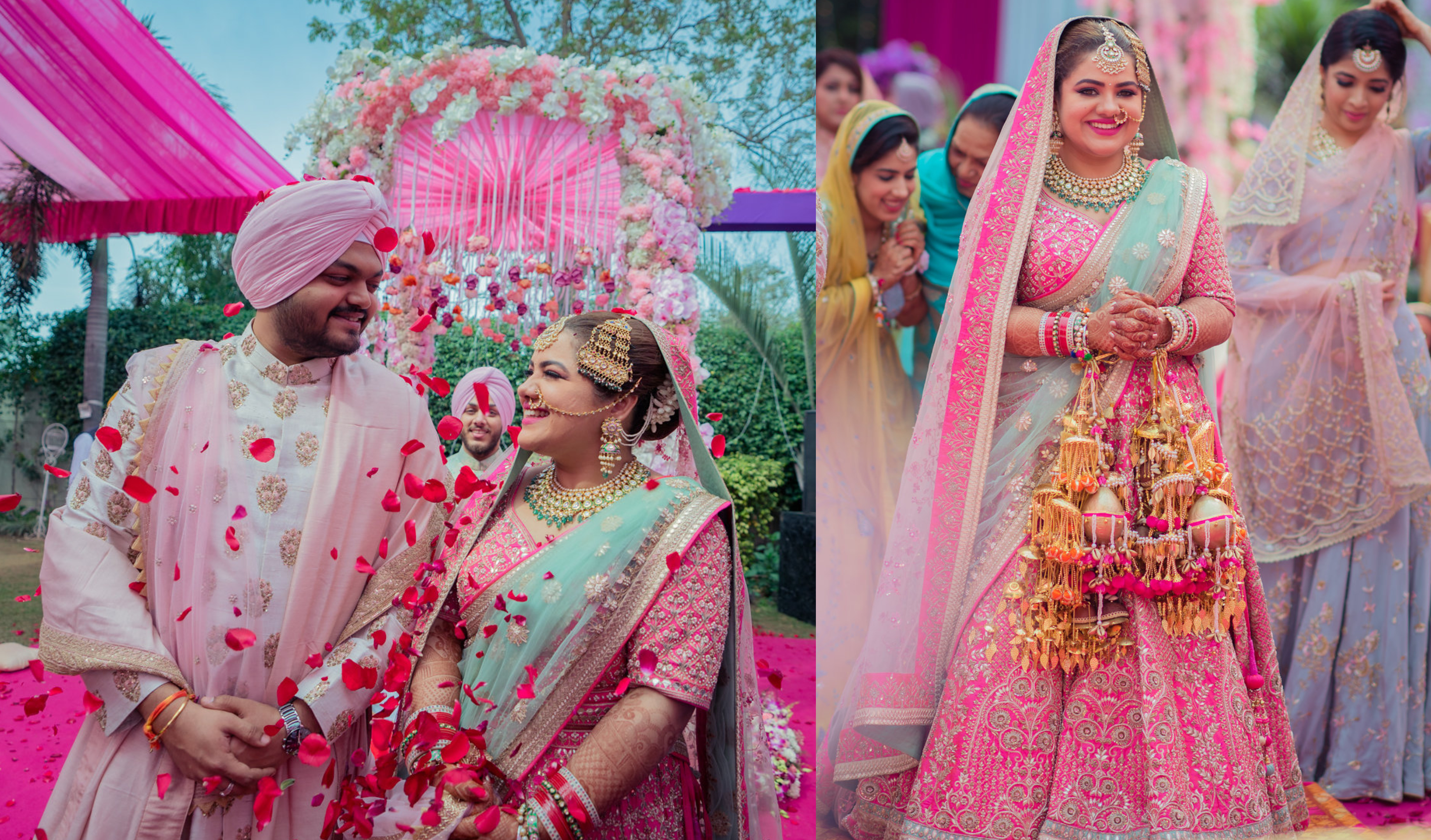 A Sikh-Marathi Wedding with a high-on-spirit Bride & Fresh Decor ...