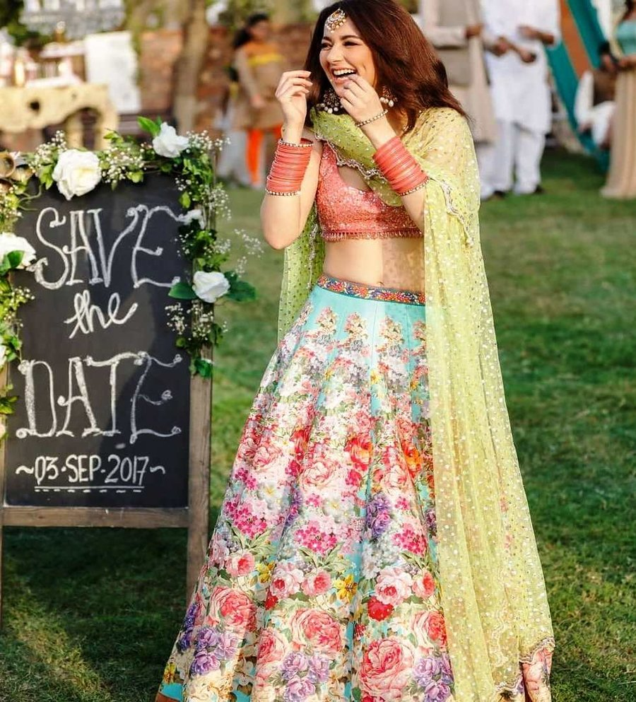 Hairstyle For Brothers Wedding: Multi-colored Bridal Lehenga Designs For The
