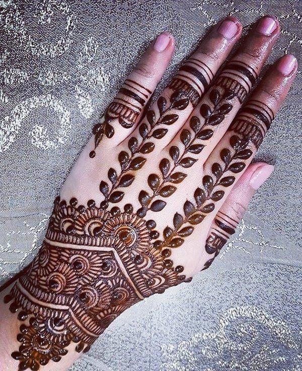 simple attractive mehndi designs