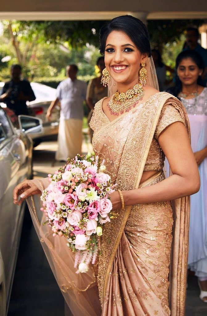 14 Charming Brides Who Dazzled In A Saree On Their Wedding Day