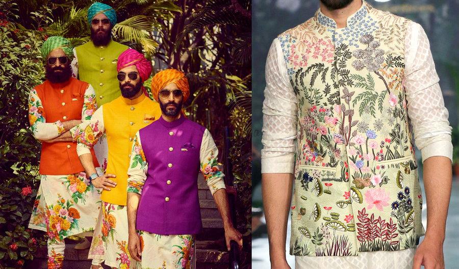 4a2ecb7c4 Latest Designer Nehru Jacket Designs   Styles for Grooms   Groomsmen ...
