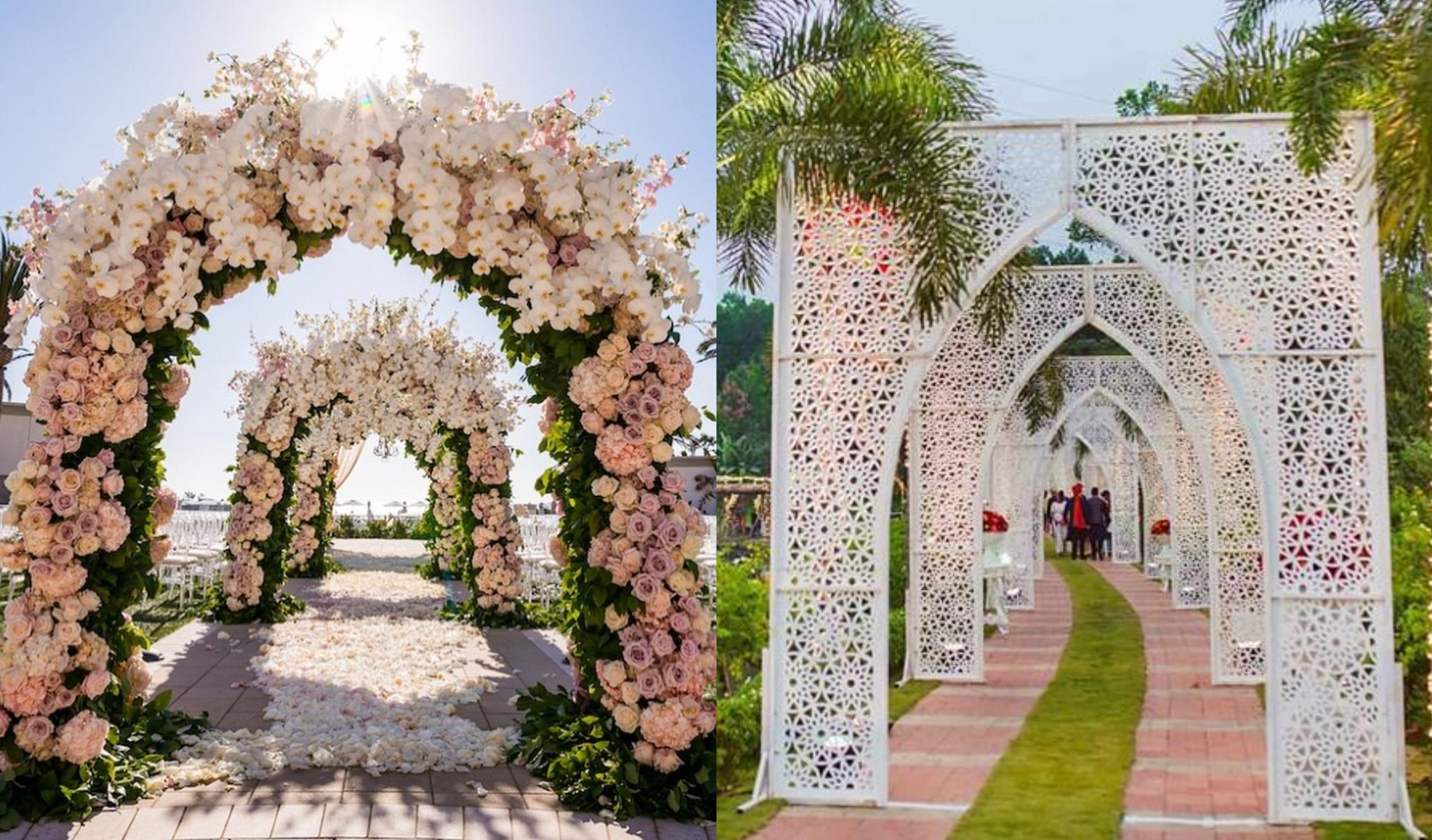 25 Magical Entrance Decor Ideas To Quirk Up Your Wedding Walkway Shaadisaga