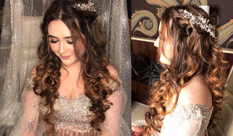 This Gorgeous Bride In A Silver Lehenga Will Remind You Of A Disney