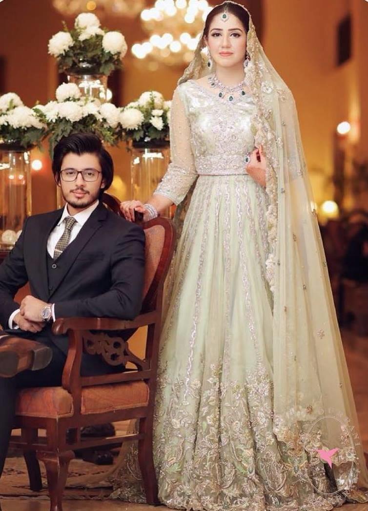 Light Blue Pakistani Wedding Dress   Lixnet AG