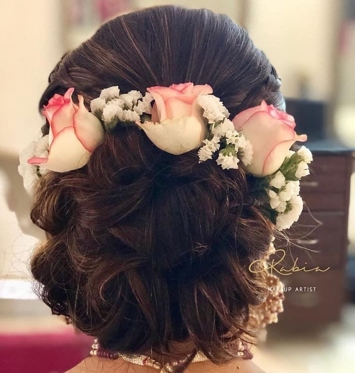 Brilliant Latest Most Beautiful Floral Buns We Spotted On Real Brides Schematic Wiring Diagrams Phreekkolirunnerswayorg