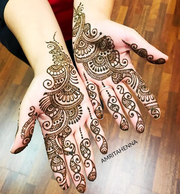 arabic hand mehndi design