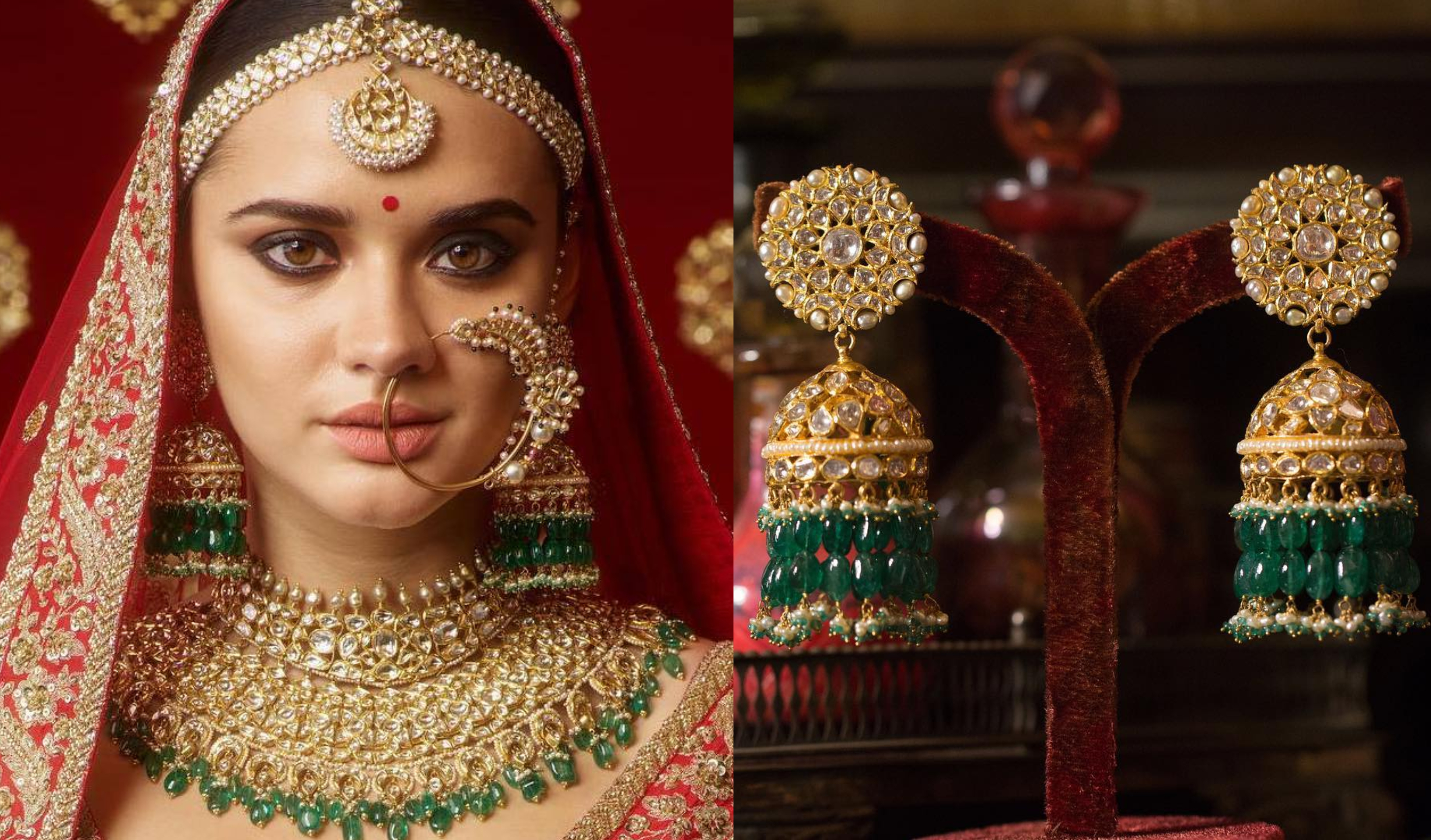 0b3b918f1bbf8 35+ Dazzling Jhumka Designs for Brides to take Inspiration from ...