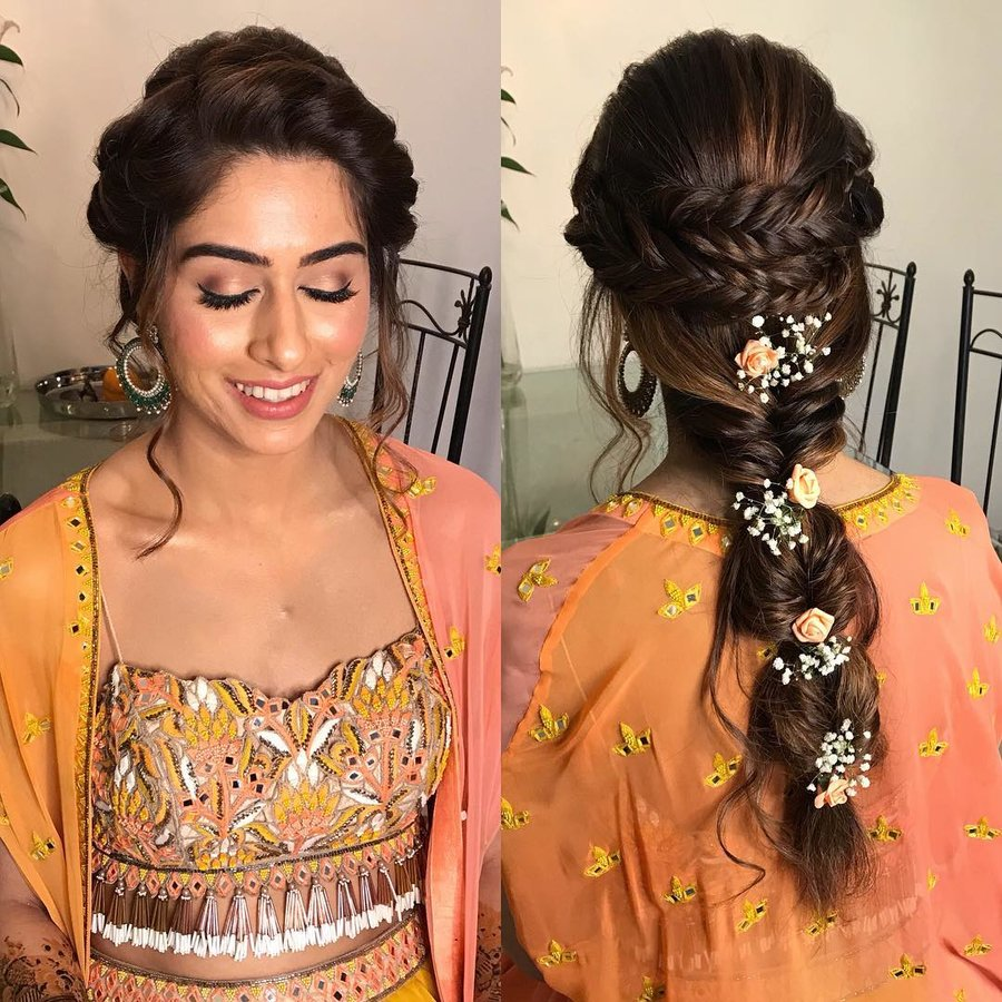 Hairstyles For Wedding Parties: Pretty Braided Hairdo Inspiration For Wedding Ceremonies