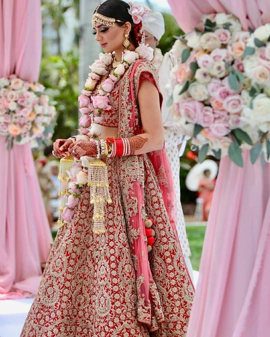 These 25 Red Designer Wedding Lehengas Are Every Girl S Dream Shaadisaga