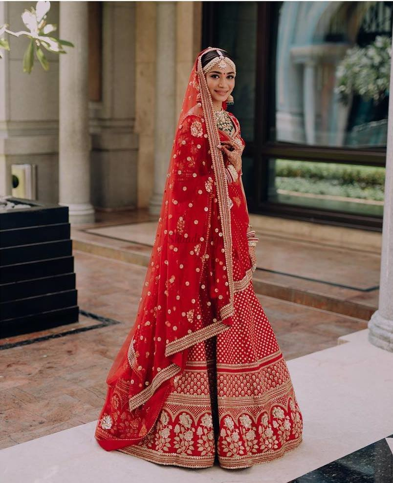 These 25 Red Designer Wedding Lehengas Are Every Girl S Dream Shaadisaga