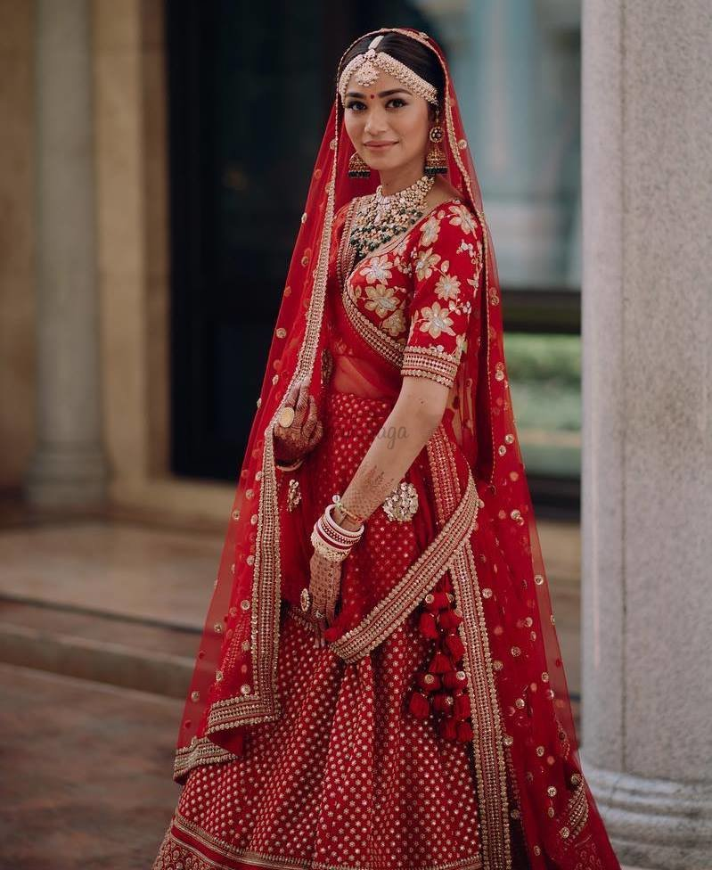 b2cfc50df1 These 25+ Red Designer Wedding Lehengas Are Every Girl's DREAM ...