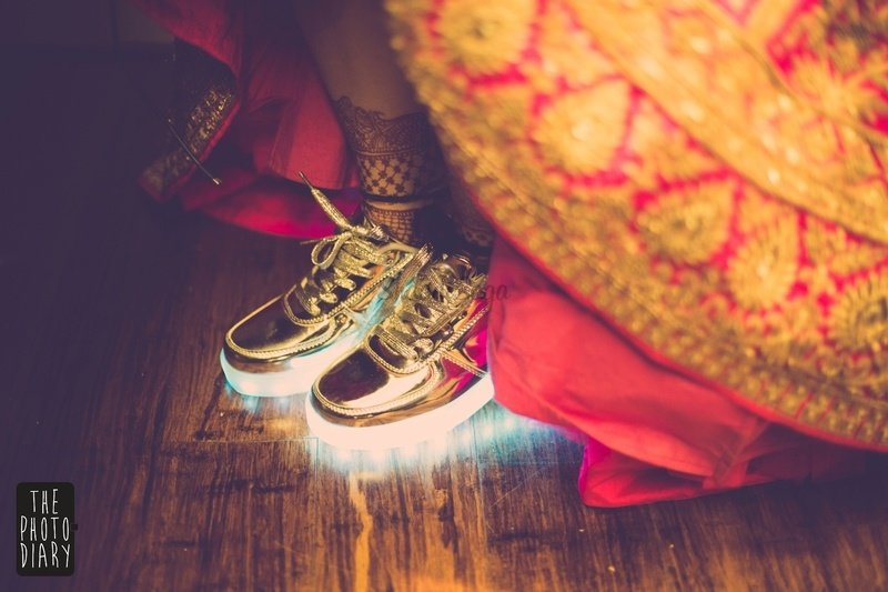 Sneakers Over Heels for their Wedding