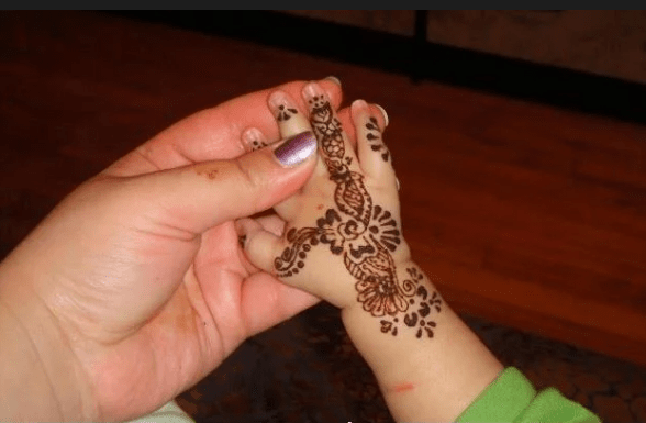 little baby hand mehndi design