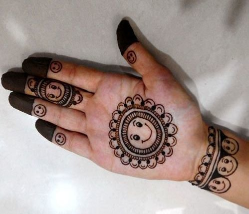 easy mehndi designs for kids step by step