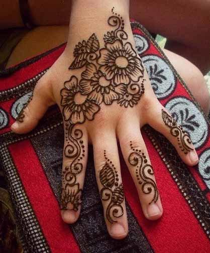 very simple mehndi designs for kids
