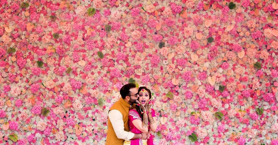 Trending All Floral Wall Decor We Spotted At Weddings Shaadisaga