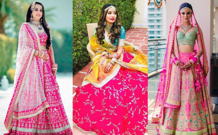 9b816b6d 13 Different & Modern Ways to Amp up Your Pink Bridal Lehenga ...