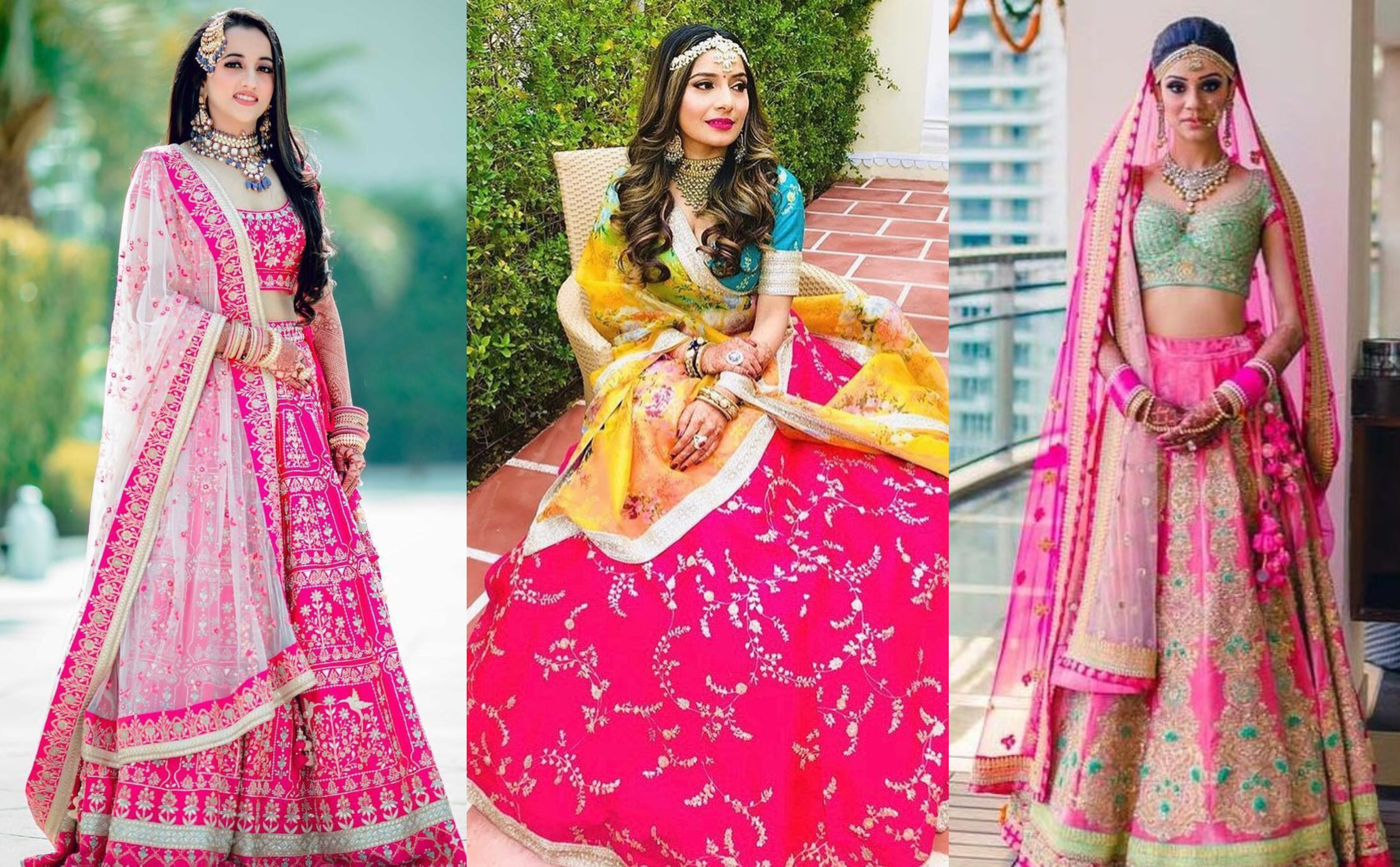 13 Different Modern Ways To Amp Up Your Pink Bridal Lehenga Shaadisaga Pragathi.com has unique collection of traditional lehenga with free stitching and free shipping offers across the globe. pink bridal lehenga
