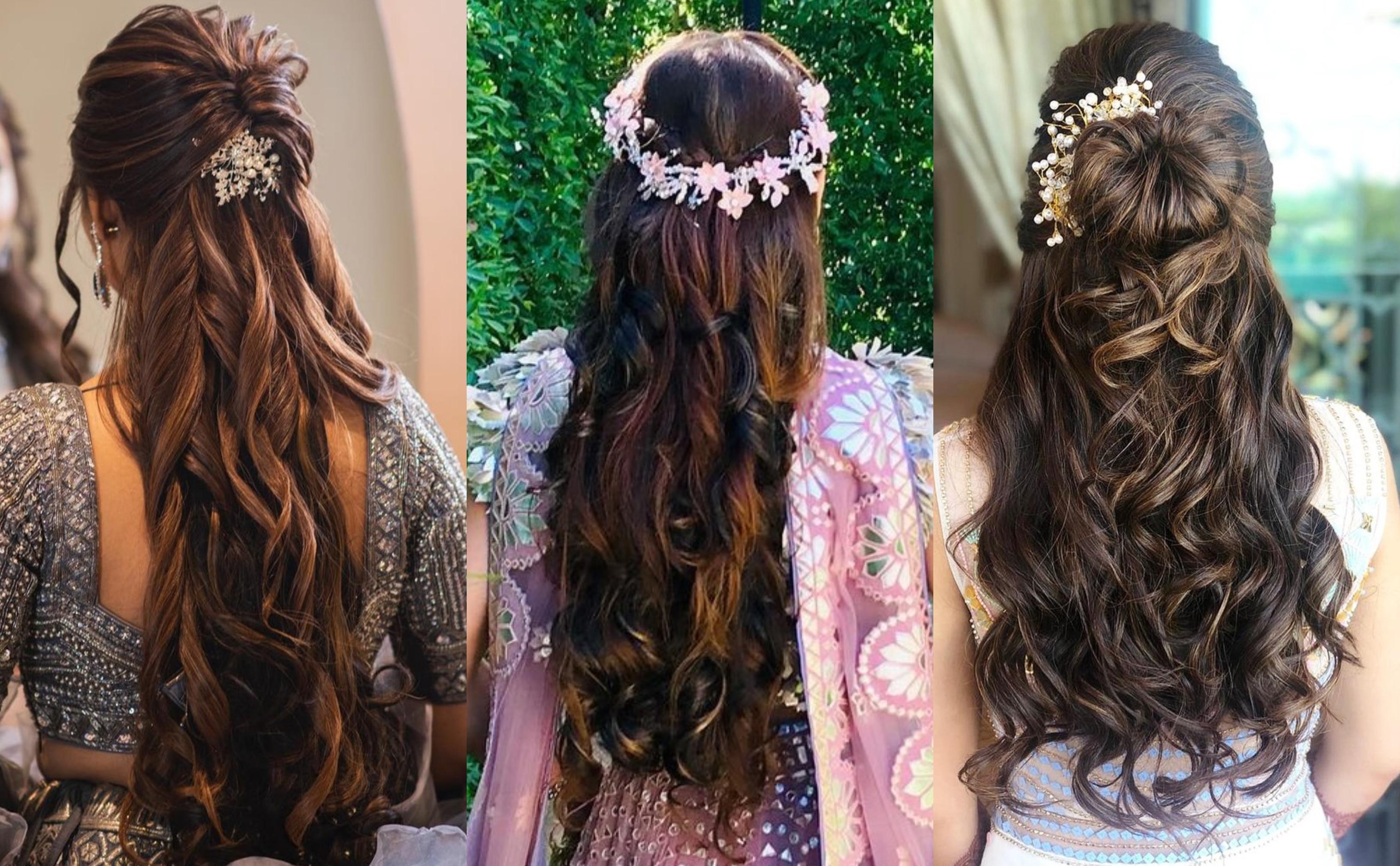 17 Trendiest Hairdos To Glam Up Your Wedding Reception Look Shaadisaga