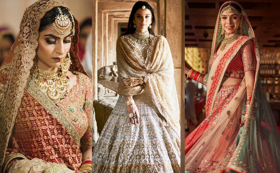 0483ca5616d6 A fashion-forward bride never underestimates her lehenga colour combination  and knows that it can make or break her wedding look. In 2018, brides took  the ...