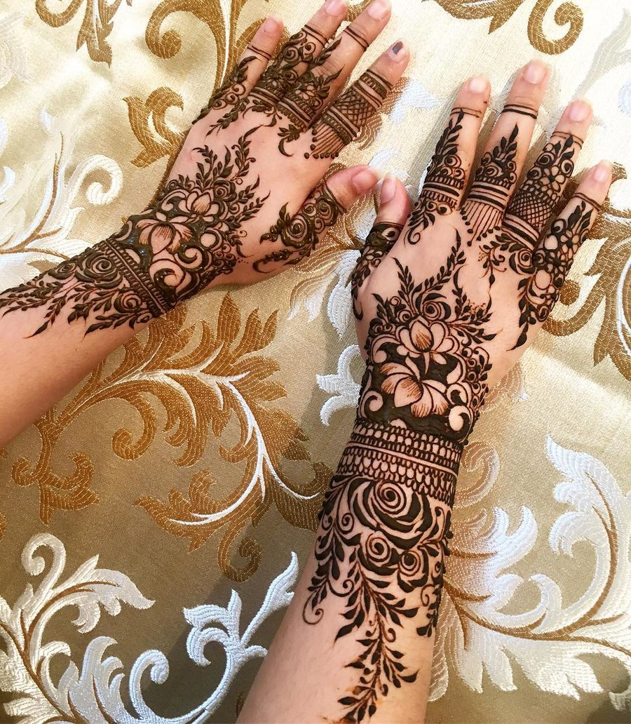 Mehndi Design Gulab Photo Cute Mehndi Design