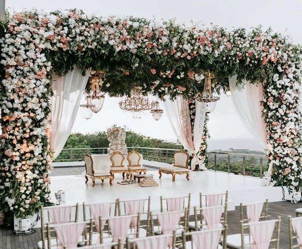 27 Latest Floral Mandap Designs for an Enchanting Wedding Decor | ShaadiSaga