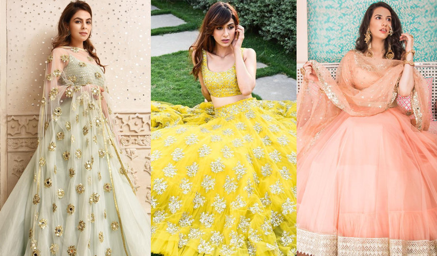 21+ Simple \u0026 Elegant Lehenga Options for the Sister of the