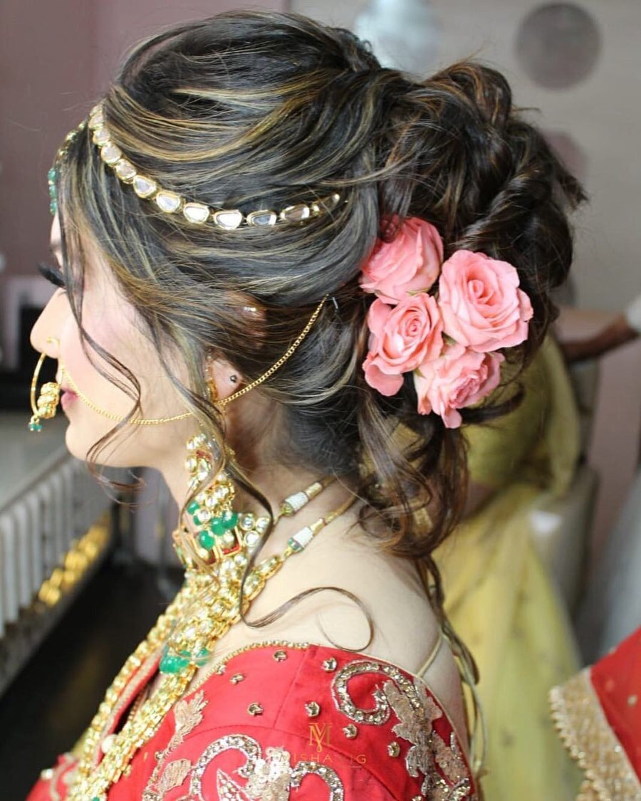 Wondrous 11 Best Bridal Hairstyles With Roses For A Glam Bridal Hairdo Schematic Wiring Diagrams Amerangerunnerswayorg