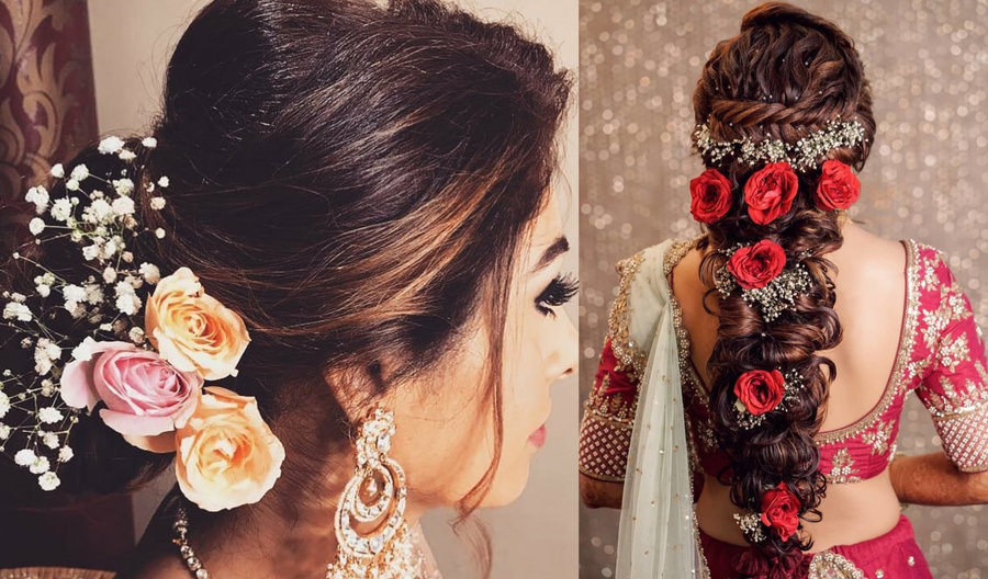 11 Best Bridal Hairstyles With Roses For A Glam Bridal
