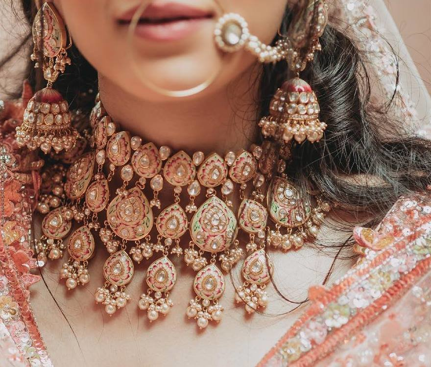 8a81e3c1b Stylish & Vibrant Meenakari Jewellery Designs for Every Bride-to-be ...