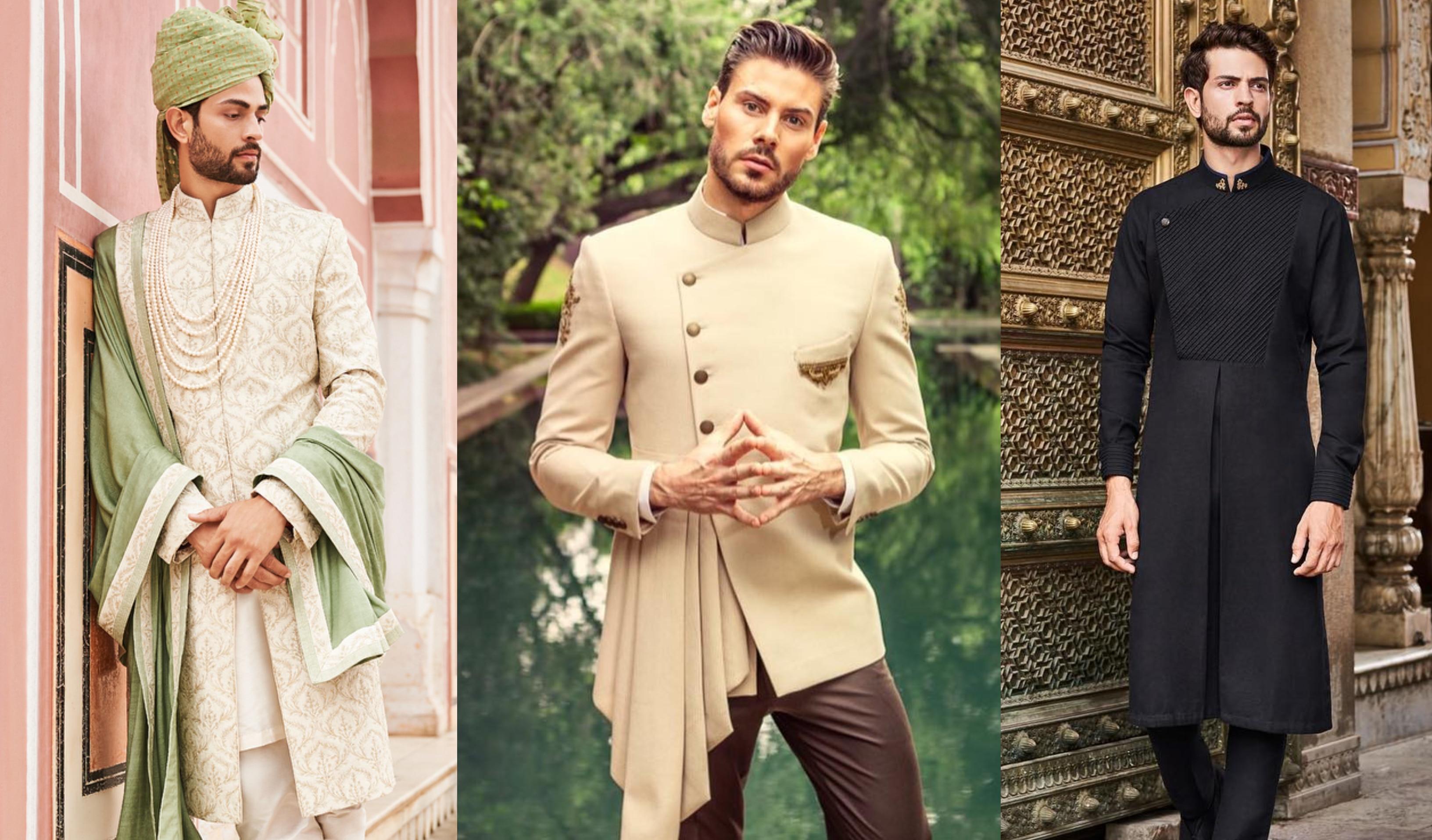 Leader of the Beauty Men Modern Fit 3-Piece Suit Blazer Tux Wedding Dress
