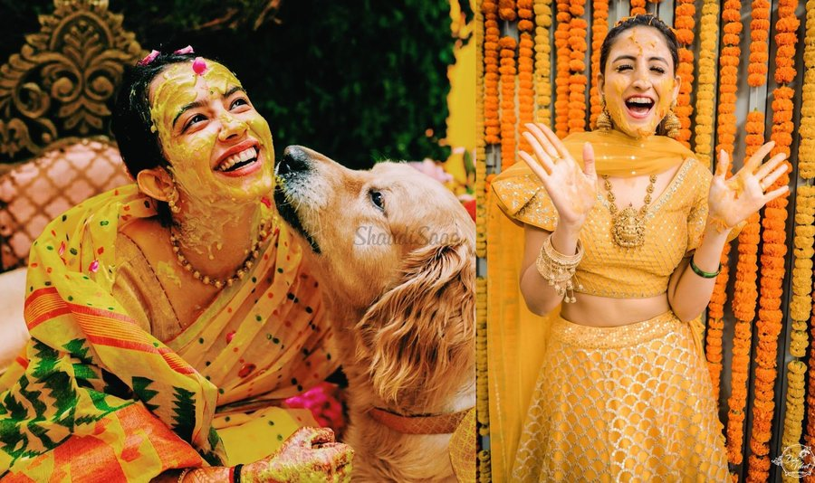 5cbecb06e1 Brides have come a long way from slipping into their old to-be-discarded  outfits to aesthetically dolling up for their haldi ceremonies that are a  paradigm ...