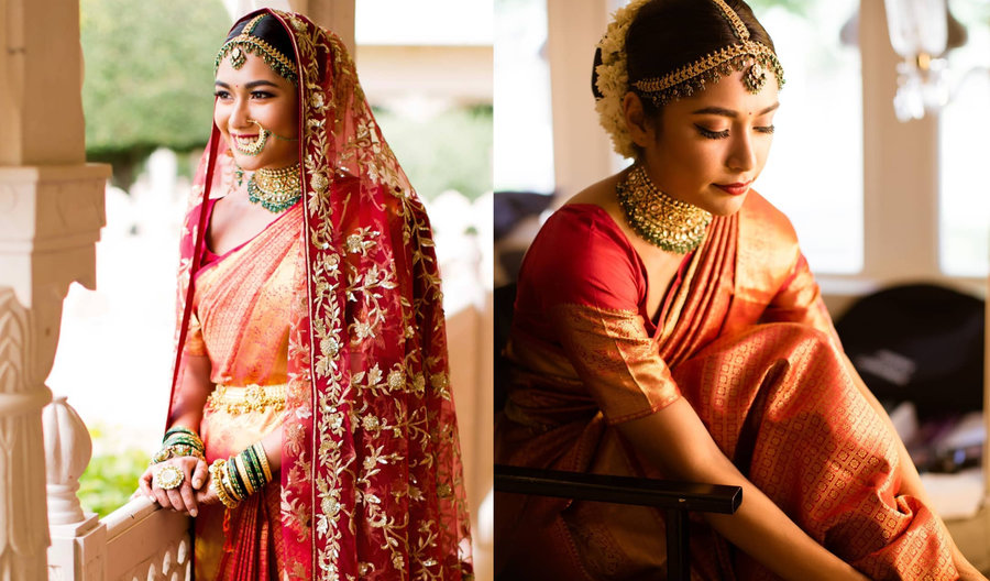 ec8b0c76b1c5 Owing to the royal feels and unparalleled ethnicity that the timeless  nine-yard lends, a lot of brides are switching from bridal lehengas to  sarees for ...