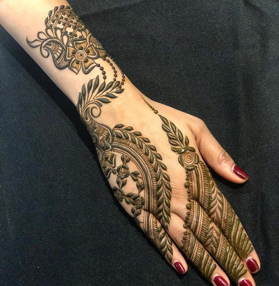 15 Easy Arabic Mehndi Designs For Hands Heena Mehndi Buy